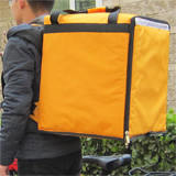 "PK-76Y: Bags for food delivery, pizza heater bag, insulated delivery backpacks, 16"" L x 15"" W x 18"" H"