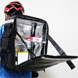 PK-33Z: Warming bags for food delivery, small pizza takeaway backpack with divier, 13