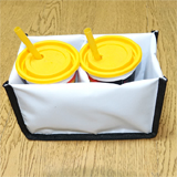 PK-HOLDER2: Cup Holder for Side Loading Bags, Avoid Spillage, to Fit 2 Cups, 20cm * 10cm * 12cm
