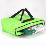 "PK-55A: Pizza take out bags for 18 inch, thermal food delivery handbags, keep hot, 18"" L x 18"" W x 7"" H"