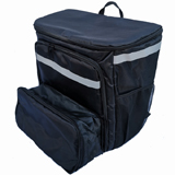 PK-70U: Extendable Pizza Delivery Bag, Flexible Food Delivery Rucksacks, Big Capacity Carrier