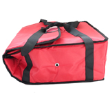 "PK-29P: Smaller than 16 Inch Pizza Delivery Tote Bag, Thermal Delivery Bags, Hot Pizza Bag, 16"" L x 16"" W x 7"" H"