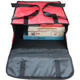 "PK-39P: 16 - 18 Inch Pizza Delivery Tote Bag, Thermal Delivery Bags, Hot Pizza Bag, 18"" L x 18"" W x 7"" H"