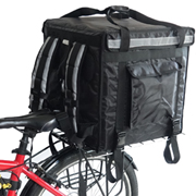 PK-92V: Insulated delivery food bags for scooter with big volume, keep hot